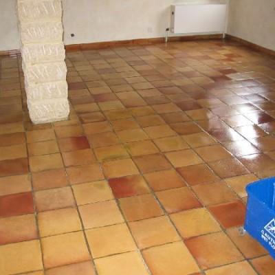 Huile de lin carrelage ciment real salle bain carreaux - Huile de lin carrelage ...